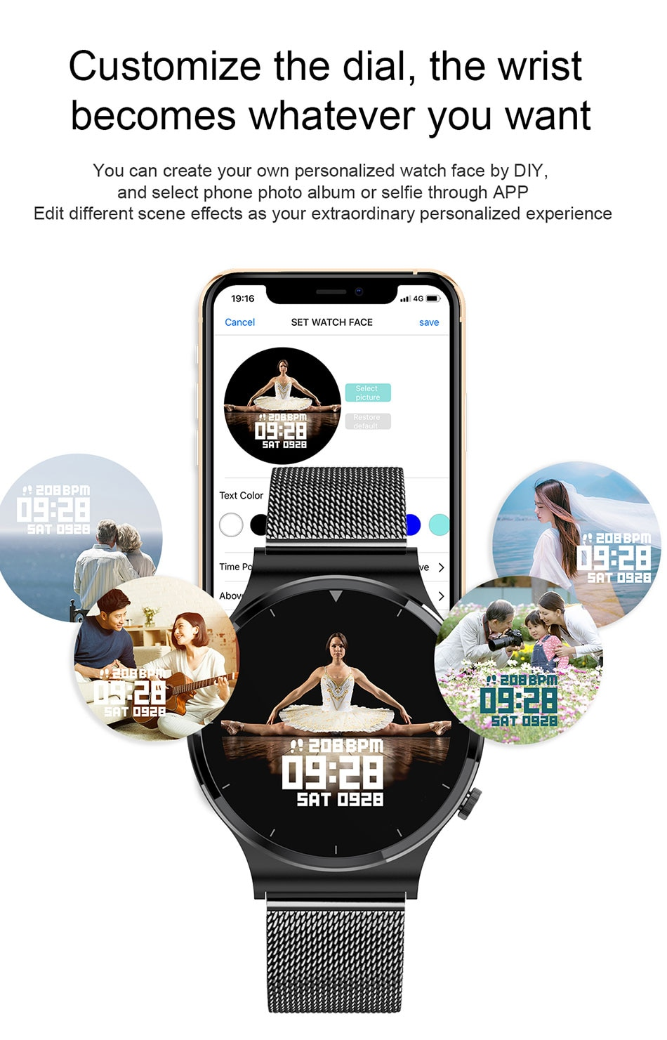 He3bd412d481946788db71ac8b8604972E - LIGE New Smart watch Men Heart rate Blood pressure Full touch screen sports Fitness watch Bluetooth for Android iOS smart watch