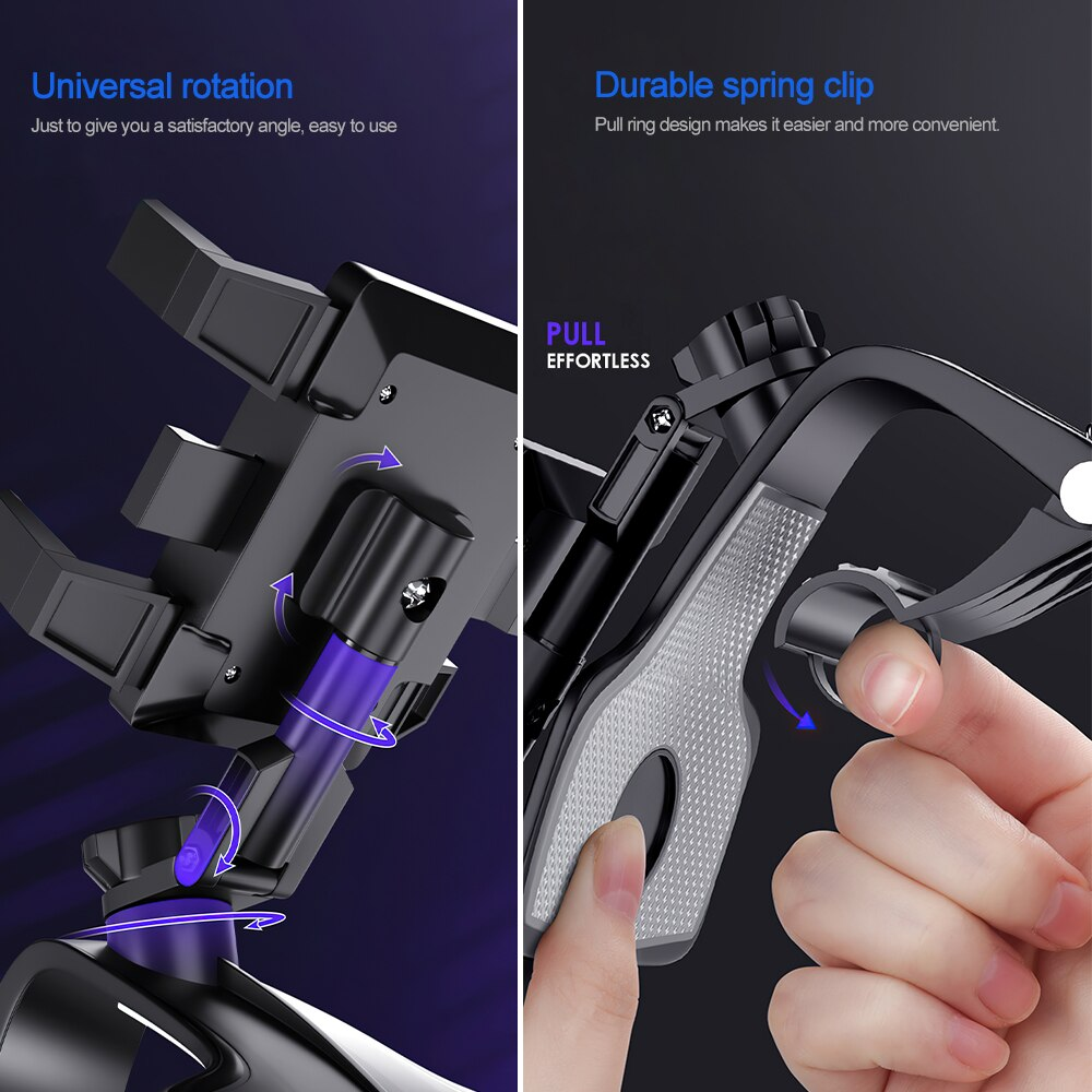 He486e3623a63450d9aa1f6685996c572a - TRAVOR Phone Holder Adjustable Stand Car Phone Holder Clip Waterproof Bracket Bicycle Handlebar Mobile Support Mount Phone Stand