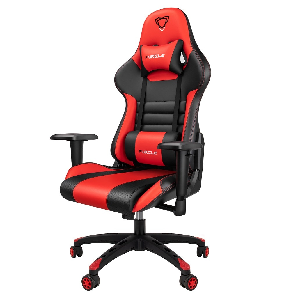 He54803fd88ec4e9696a1c52e86a0dc68X - Furgle Gaming Office Chairs 180 Degree Reclining Computer Chair Comfortable Executive Computer Seating Racer Recliner PU Leather