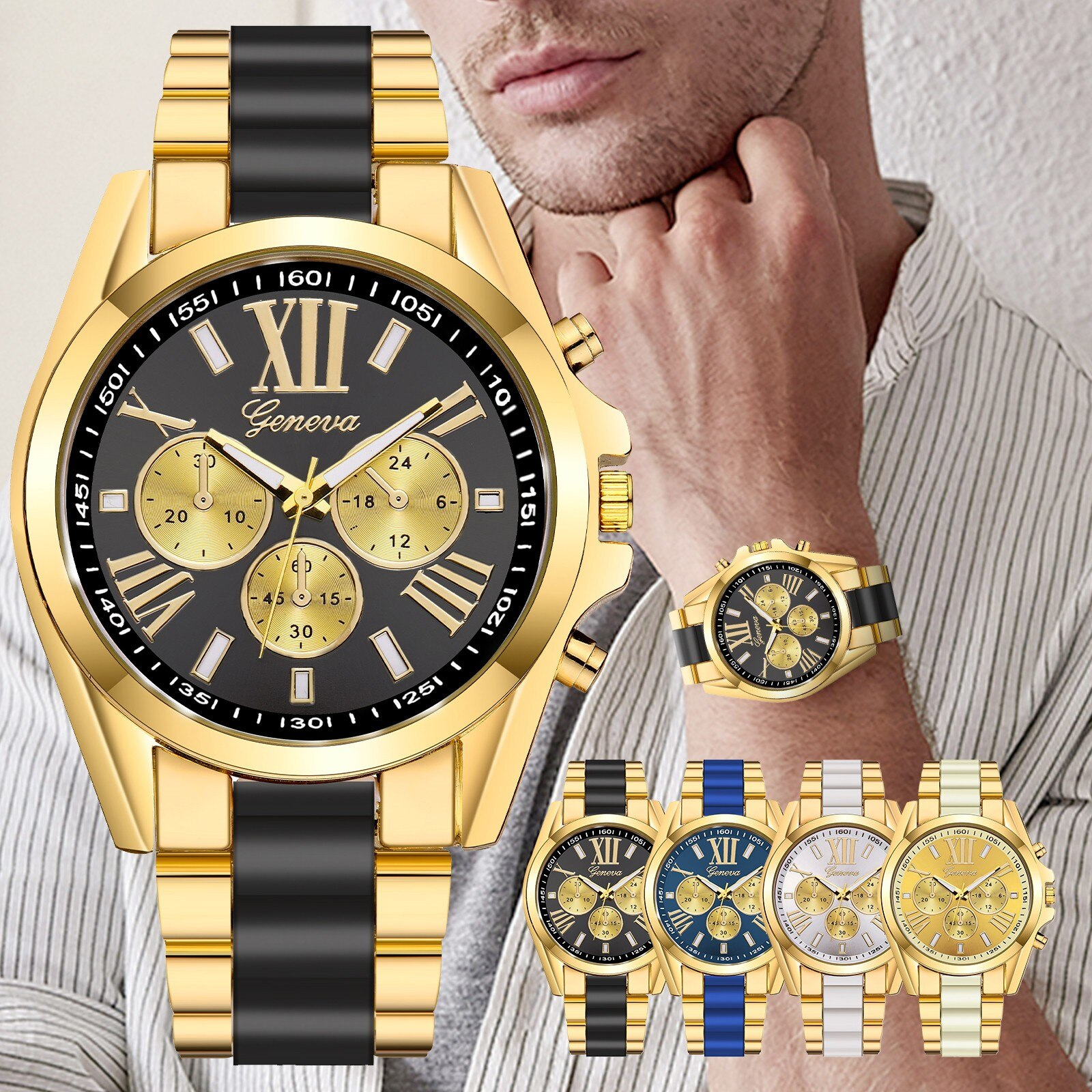 He72c4700c4984849afb02e206dfaece6S - Fashion Luxury Watches for Men Casual Quartz Stainless Steel Band Diamonds Business Watch relogio masculino часы мужские#40