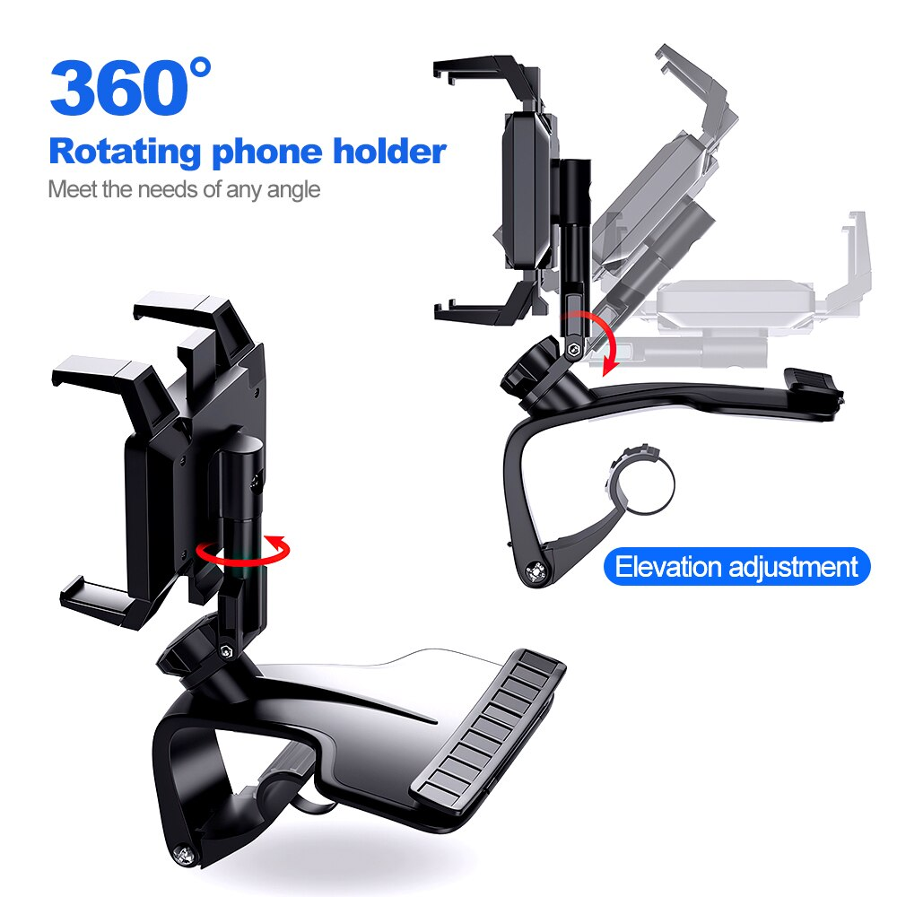 He794d6bde2ce45c7a08646cedc2b8188R - TRAVOR Phone Holder Adjustable Stand Car Phone Holder Clip Waterproof Bracket Bicycle Handlebar Mobile Support Mount Phone Stand