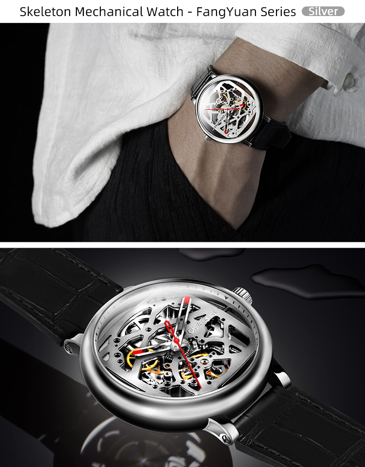 He8432efdb0394c559a523421a4a34bc7H - CIGA DESIGN Automatic Mechanical Watch Men Stainless Steel Case Wristwatch Waterproof Skeleton Clock Chinese Style CIGA Watches
