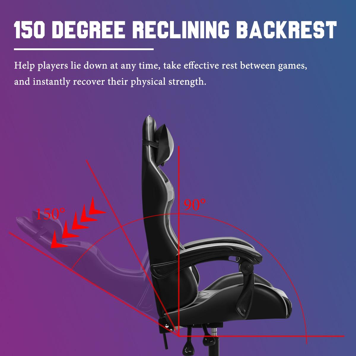 He8ded09527284edba5fa9323f05f874fj - Adjustable Office Chair Gaming Ergonomic Leather Racing Desk Chairs Gaming Computer Chaise Game Chairs Reclining Seating