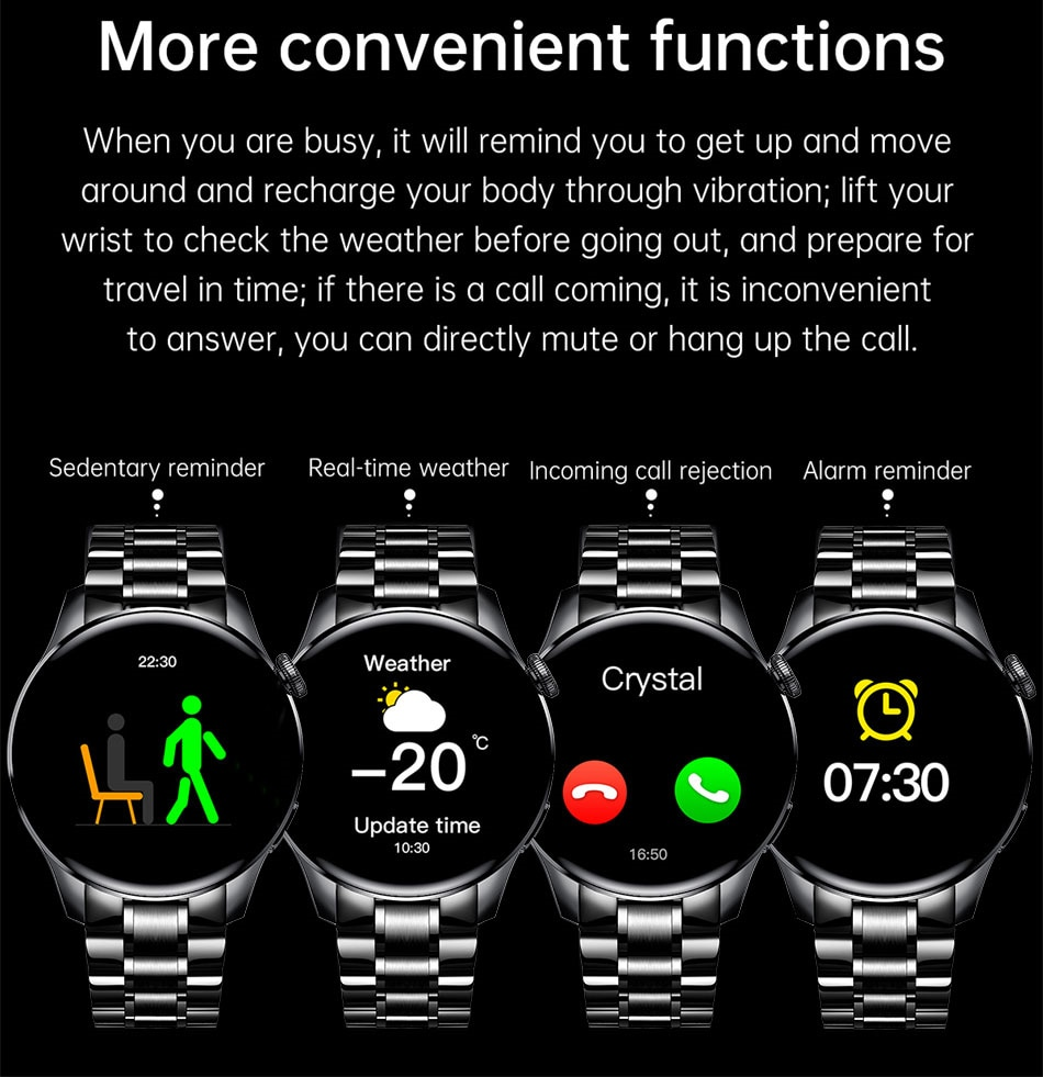 He93a5c0ae2bc4fa9adbe40540be929c7e - LIGE New Bluetooth Call Smart watch Men Full touch Screen Sports fitness watch Bluetooth is Suitable For Android ios Smart watch
