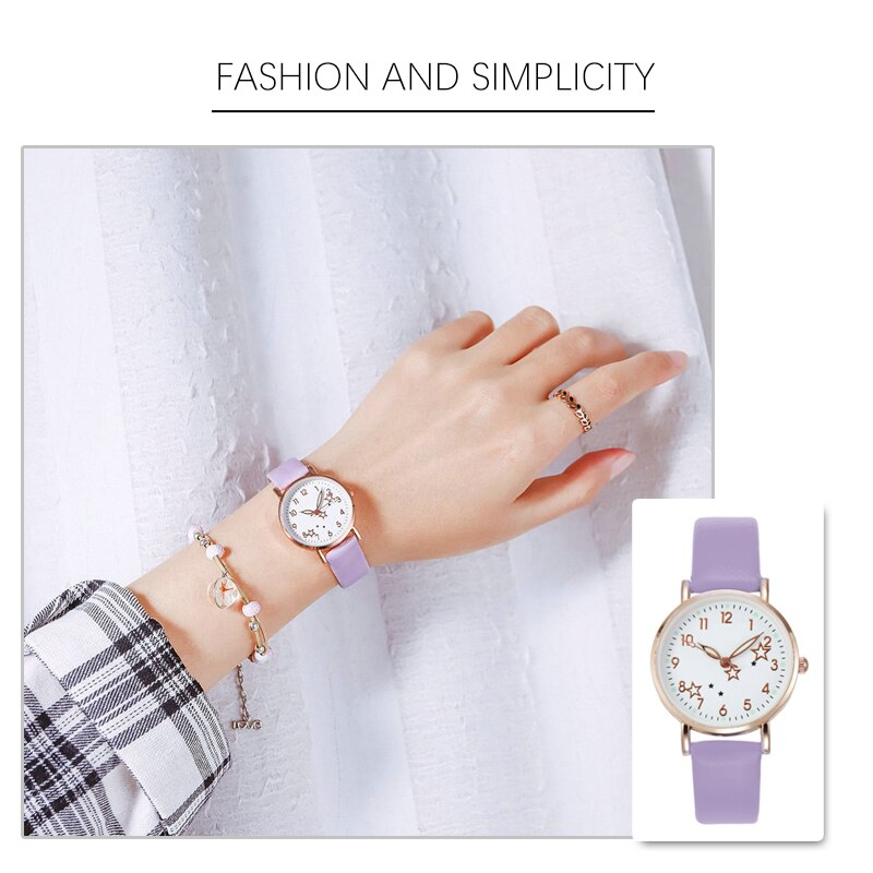 Hed43f1a570ef4566acb6e12cefbb58ed3 - 2021 New Watch Women Fashion Casual Leather Belt Watches Simple Ladies' Small Dial Quartz Clock Dress Female Watch Reloj mujer