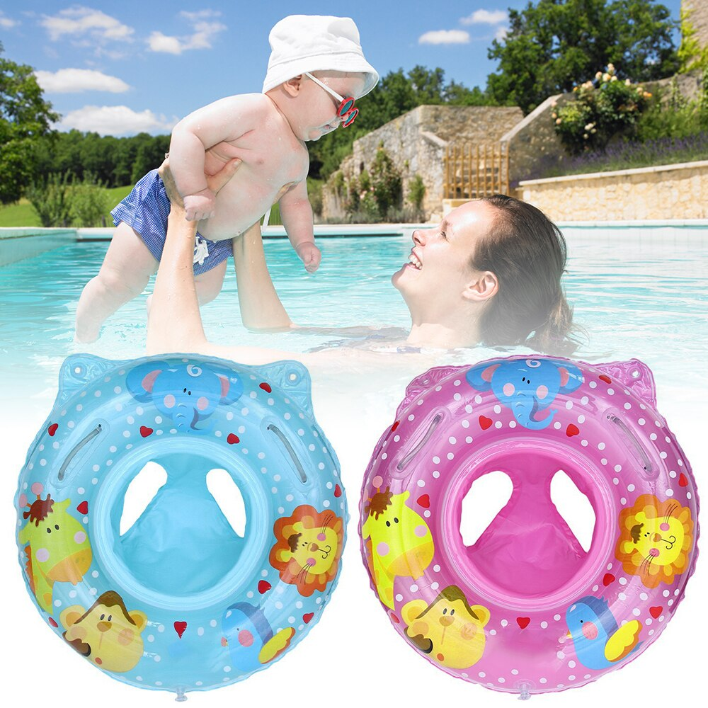 Hedeb46be520f4c0a9a2343432e0d8385T - Lnflatable Child Seat Swimming Ring Dual-Handle Safety Baby Seat Floating Water Toy Children Swimming Accessories
