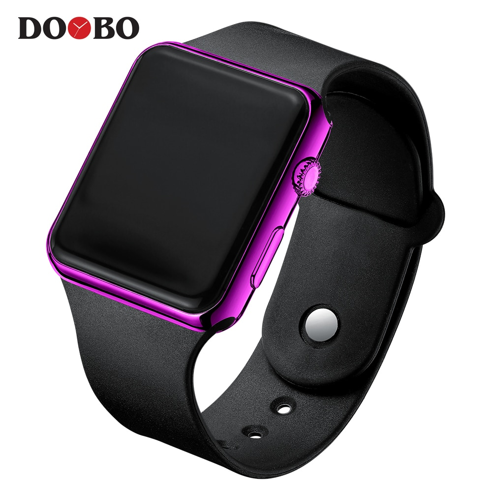Hee5f3492514a4ddfb873fec0572210d4e - Fashion Men Watch Women Casual Sports Bracelet Watches White LED Electronic Digital Candy Color Silicone Wrist Watch Children