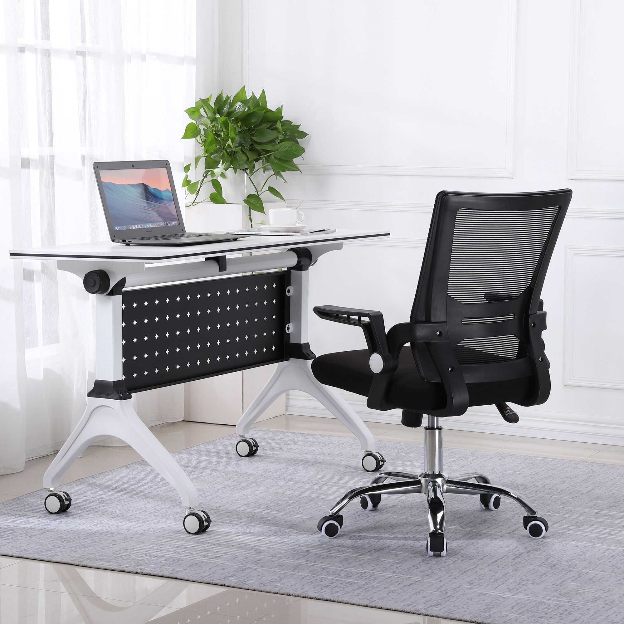 Hee868e20c88a4215aec579c8120ec978V - Sigtua Swiveling Desk Chair Breathable Height-adjustable PC Chair Ergonomic Executive Black Computer Office Chair