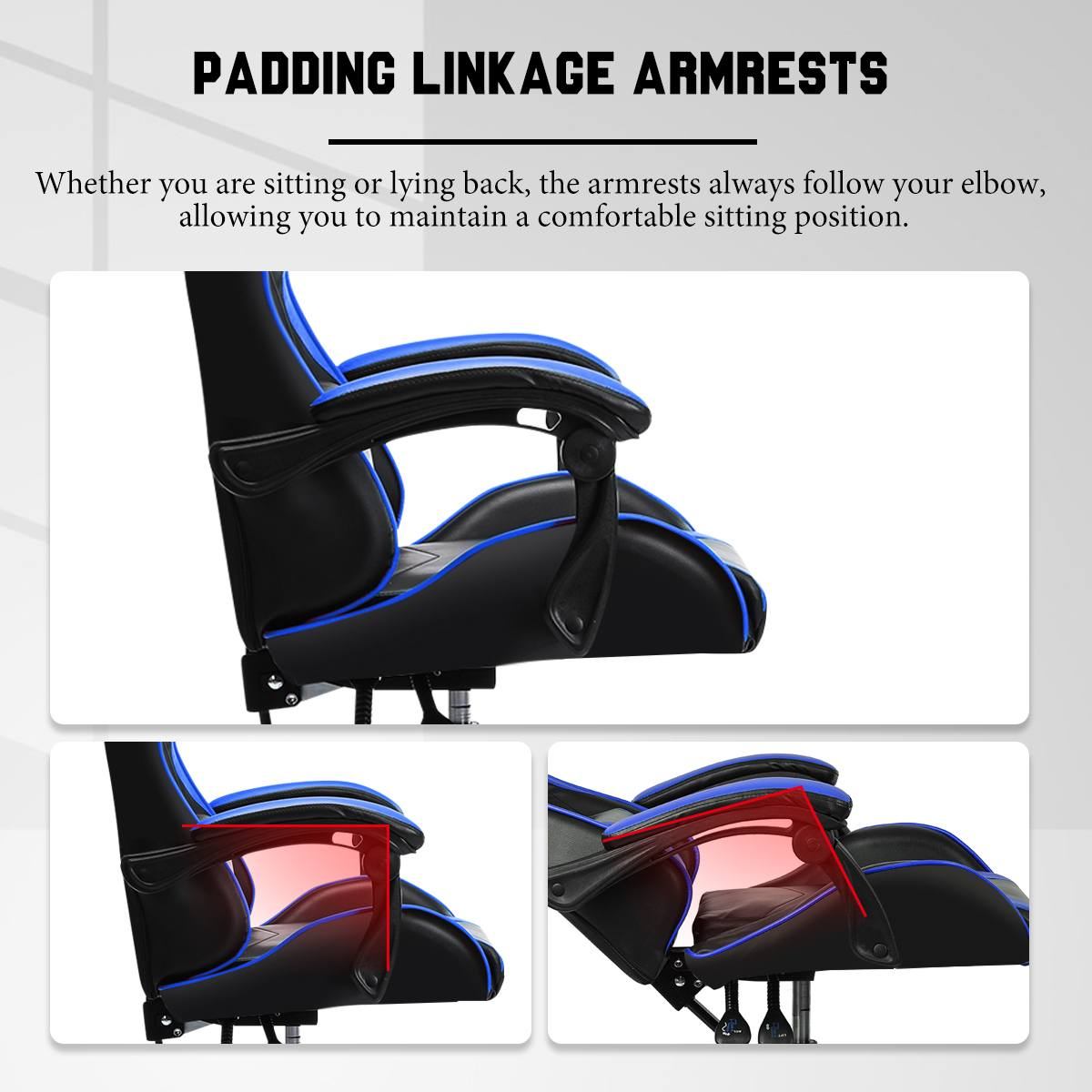 Hf3d4d230321848d5a3d9fa925228eddfj - Office Gaming Chair with Footrest Ergonomic Office Chairs Adjustable Swivel Leather High Back Computer Desk Chair with Headrest