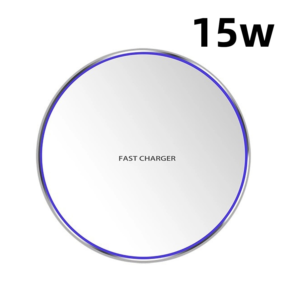 Hf4051cad88b743038149273c579f97e8w - Wireless Phone Charger 10W 15W Ultra Thin Desktop Tabletop Battery Quick Charge Fast Charger for Smartphone Aluminum Alloy