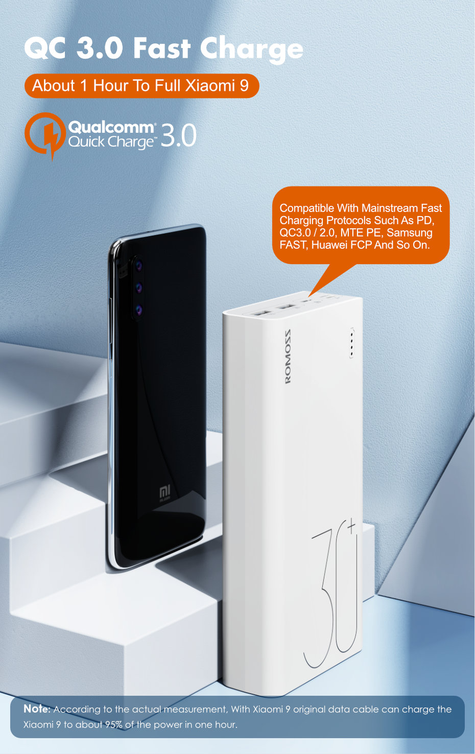Hf59d7e32a863465eb254221522d2f685i - ROMOSS Sense 8 Power Bank 30000mAh QC PD 3.0 Fast Charging Powerbank 30000 mAh External Battery Charger For iPhone Xiaomi Mi