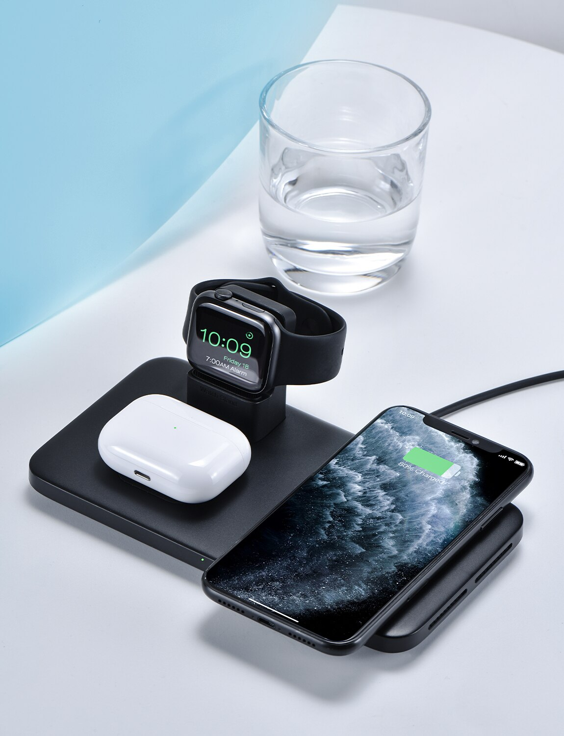 Hf5a831975e7841f887bf6601d0a3f8b9U - Seneo PA202 Wireless Charger 3 in 1 for iPhone 12 11 Wireless Charging Pad for AirPods Pro 2 Charging Dock for iWatch 5 4 3 2