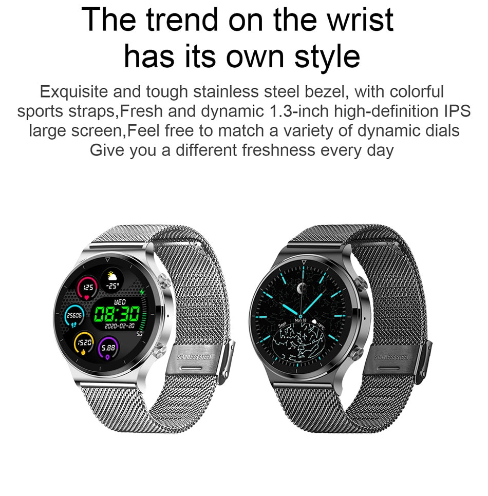 Hf5b3e049fb874381b1aafff1966d6cf8S - LIGE New Smart watch Men Heart rate Blood pressure Full touch screen sports Fitness watch Bluetooth for Android iOS smart watch