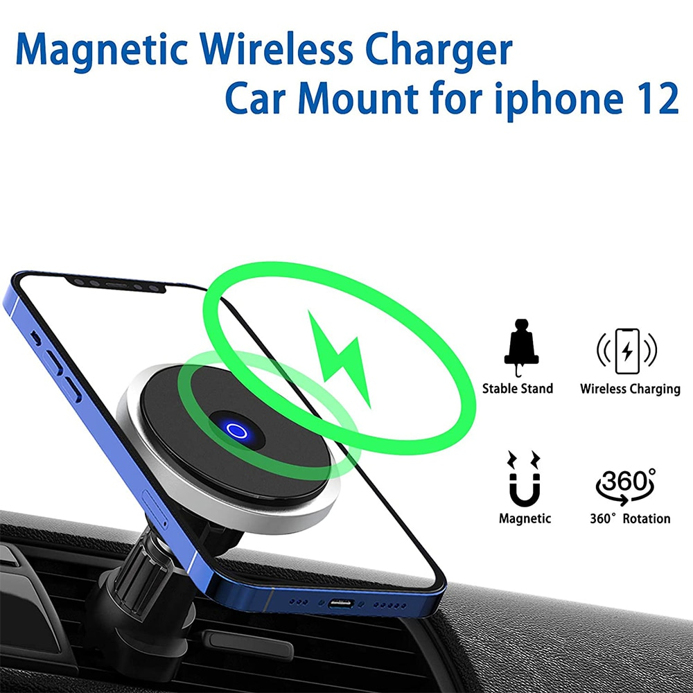 Hf5f207f054984a2eaa66968c4db9df95n - Fivetech 15W Fast Car Wireless Charger For iPhone 12 Pro Max/12 Mini Strong Magnetic Car Charging Stand Car Phone Holder