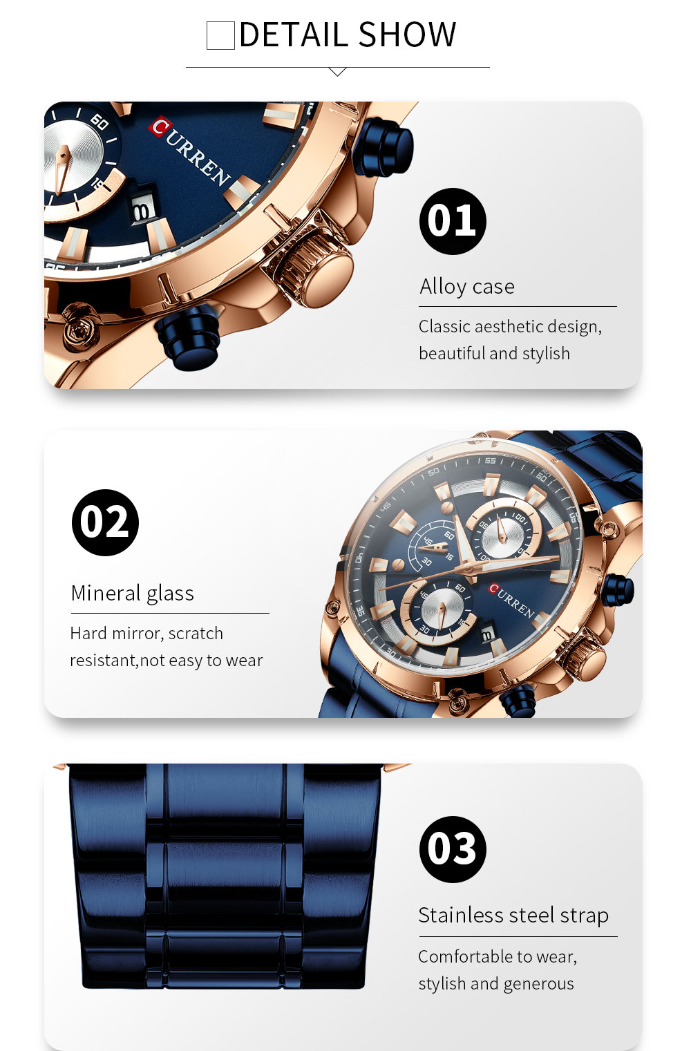 Hf5fe57ad309140779c11a9ff3917b01dx - CURREN Top Brand Luxury Men Watches Sporty Stainless Steel Band Chronograph Quartz Wristwatch with Auto Date Relogio Masculino
