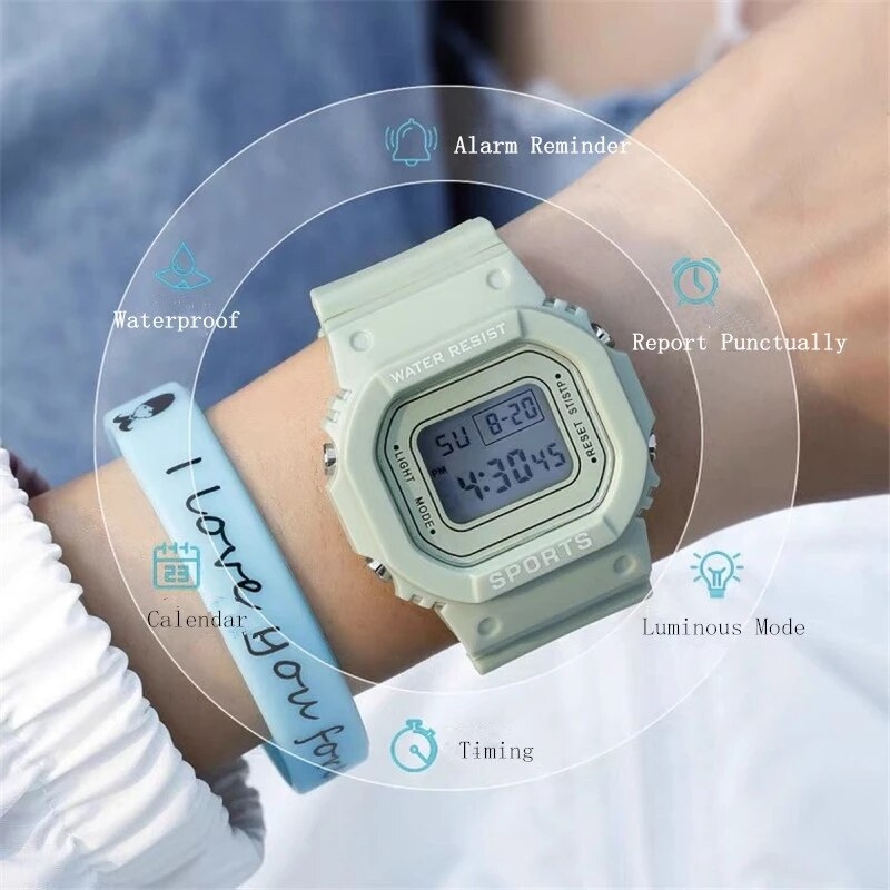 Hf6591235db7b4e138235e3bd3d8f5941L - New Fashion Transparent Electronic Watch LED Ladies Watch Sports Waterproof Electronic Watch Candy Multicolor Student Gift