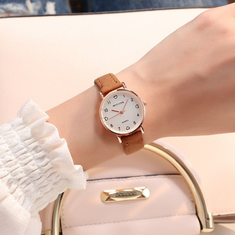 Hf69be36132744059a095a105ffe79ba8M - Women Watches Simple Vintage Small Dial Watch Sweet Leather Strap Outdoor Sports Wrist Clock Gift