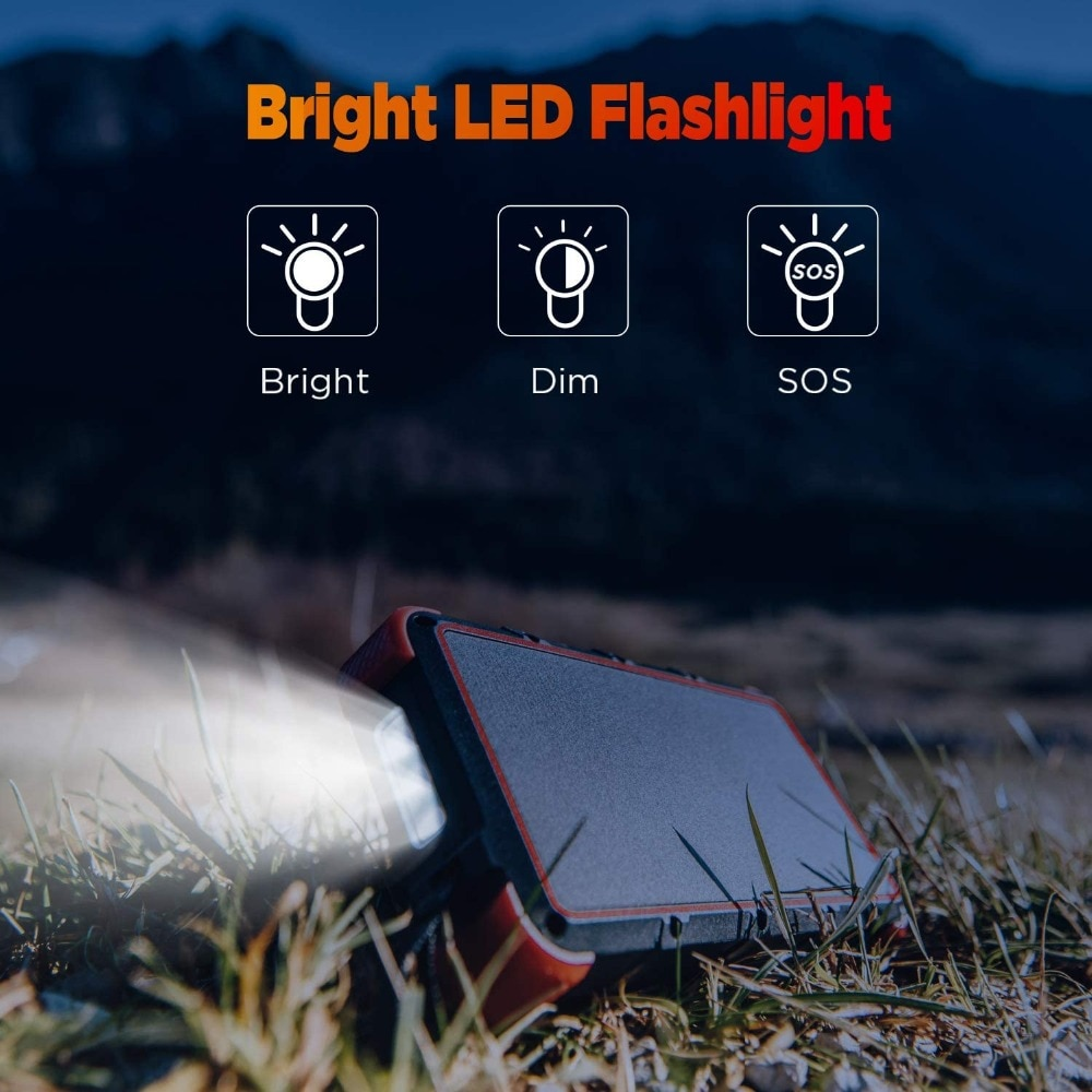 Hf7d50b1967ca4f699f8bf24c227c6d8bJ - Outxe Outdoor 25000mAh Powerbank Rugged Solar Power Bank Wireless IP67 Waterproof Quick Charge Poverbank Battery with Flashlight