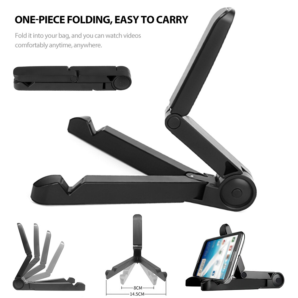 Hf82d9e9e2d1a4b41a2db072ed52862d7P - Mobile Phone Holder Tablet Computer Support Folding Triangle Bracket Desktop Stand Portable Multi Use for Smartphone iPad Office
