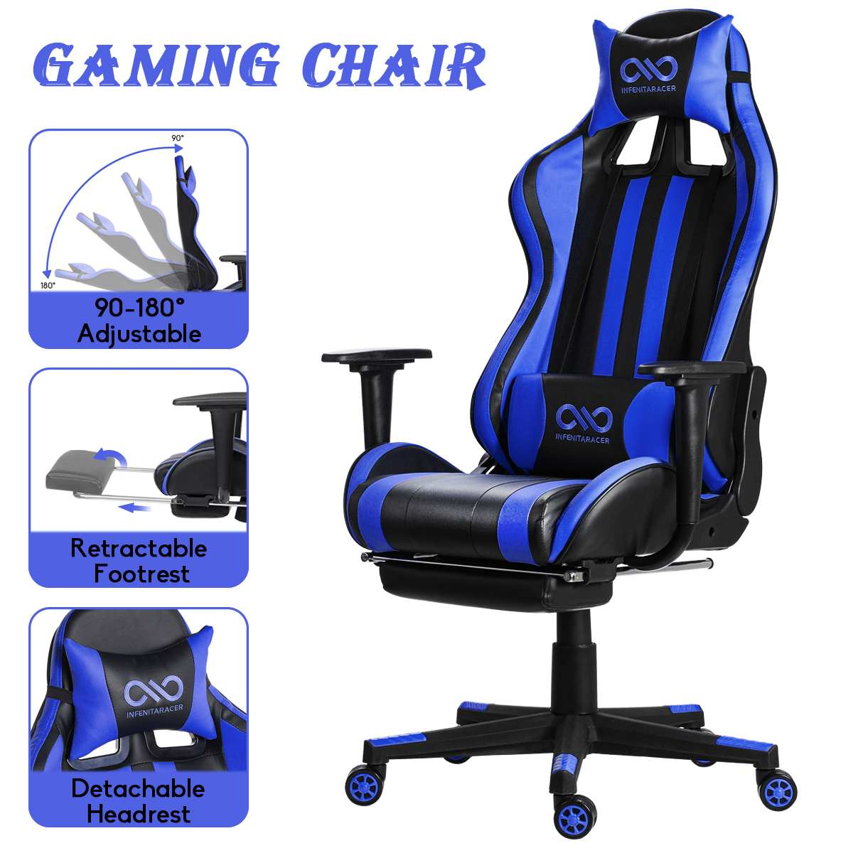 Hf8438429e24544d3a20db0c0b46377abx - Office Gaming Chair PVC Household Armchair Lift and Swivel Function Ergonomic Office Computer Chair Wcg Gamer Chairs