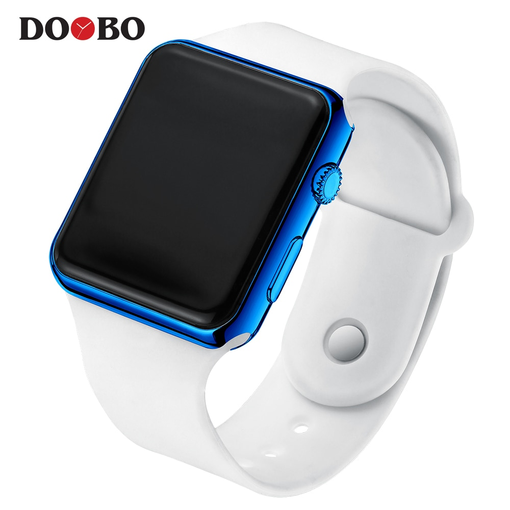 Hf887e50d207f464b8e6786c240cdd5c6W - Fashion Men Watch Women Casual Sports Bracelet Watches White LED Electronic Digital Candy Color Silicone Wrist Watch Children