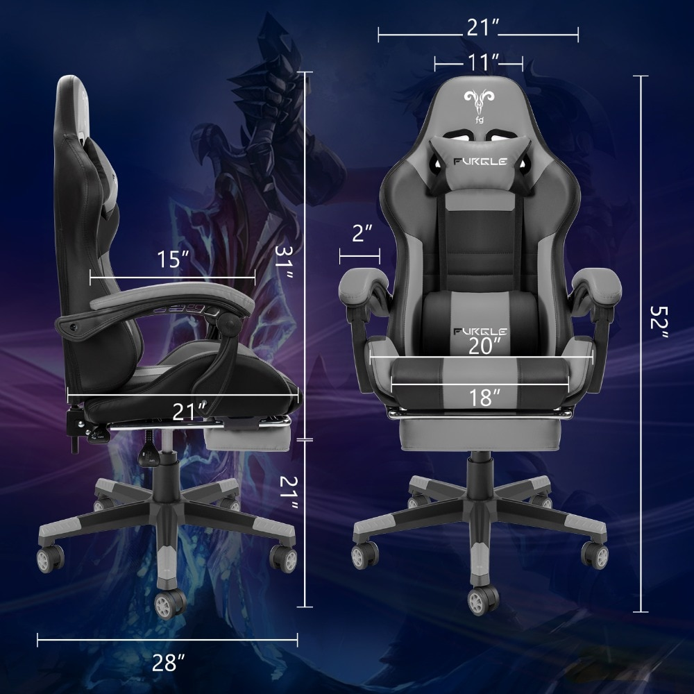 Hf8d3930c3383430baaeca5ddbf4735f5s - Furgle PC Gaming Chair Ergonomic Office Chair Desk Chair with Lumbar Support Flip Up Arms Headrest High Back Computer Chair