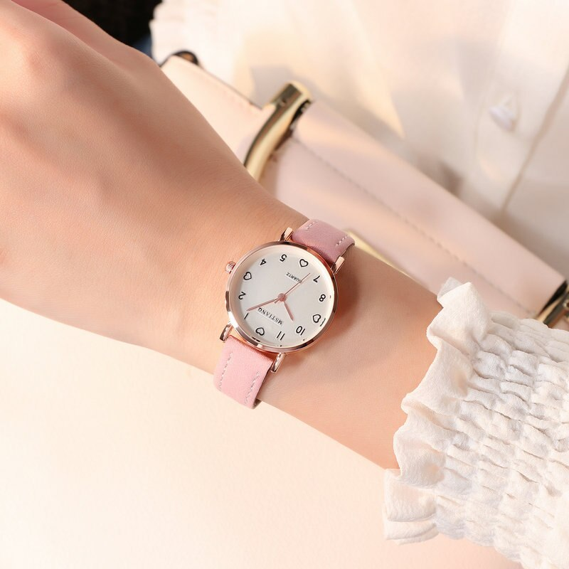 Hf9885fcf5570466197ffe65f7bc34291j - Simple Vintage Women Small Dial Watch Sweet Leather Strap Wrist Watches Gift