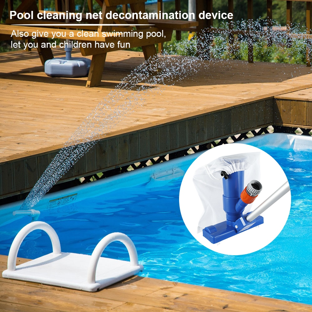 Hfad60340cab24a6fa29cb88c12890414P - Swimming Pool Vacuum Cleaner Cleaning Tool Kit Suction Spary Jet Cleaner Head with Net for Swimming Pool Spa Pond Fountain