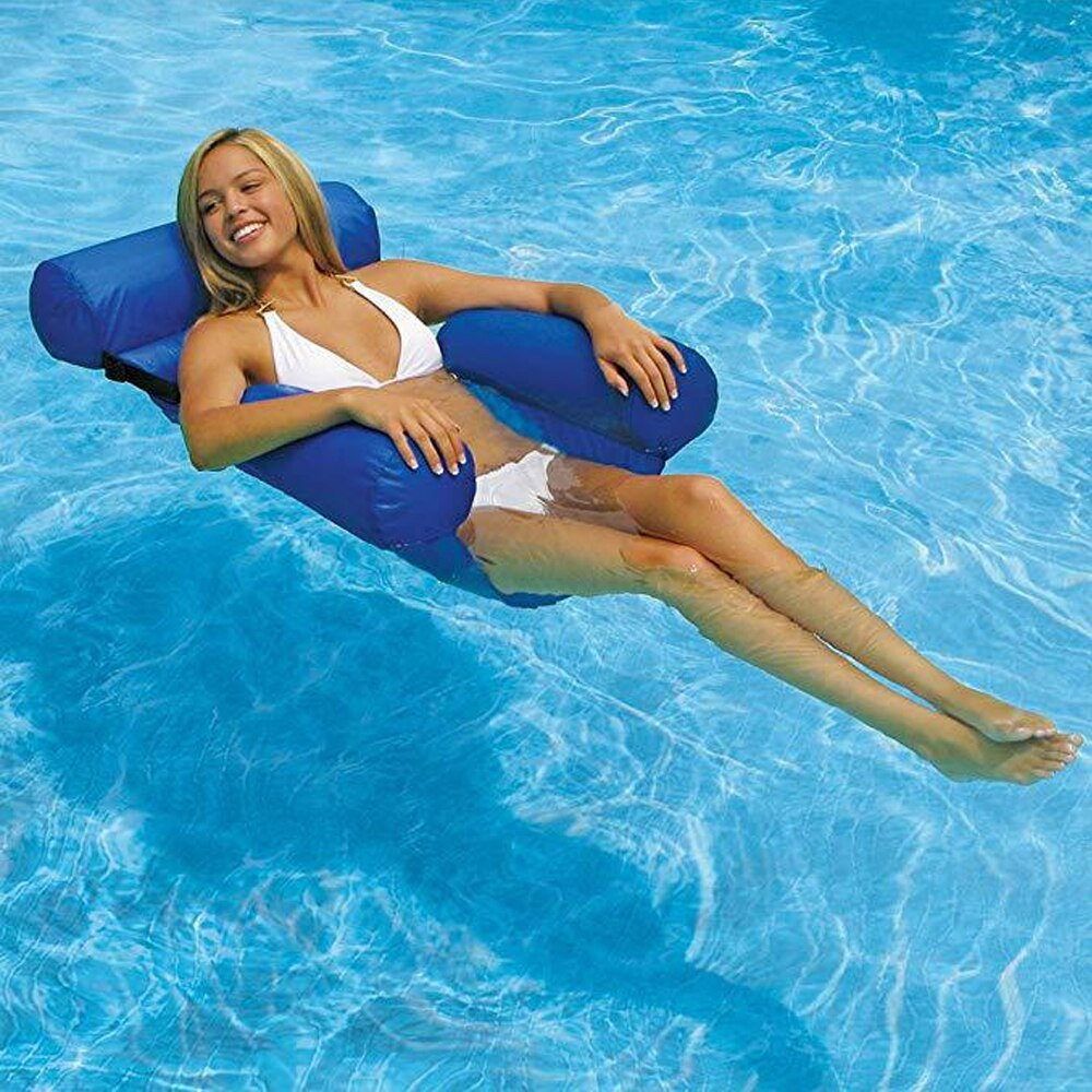 Hfe985b213c4944be837022d87ec44685f - PVC Summer Inflatable Foldable Floating Row Swimming Pool Water Hammock Air Mattresses Bed Beach Water Sports Lounger Chair