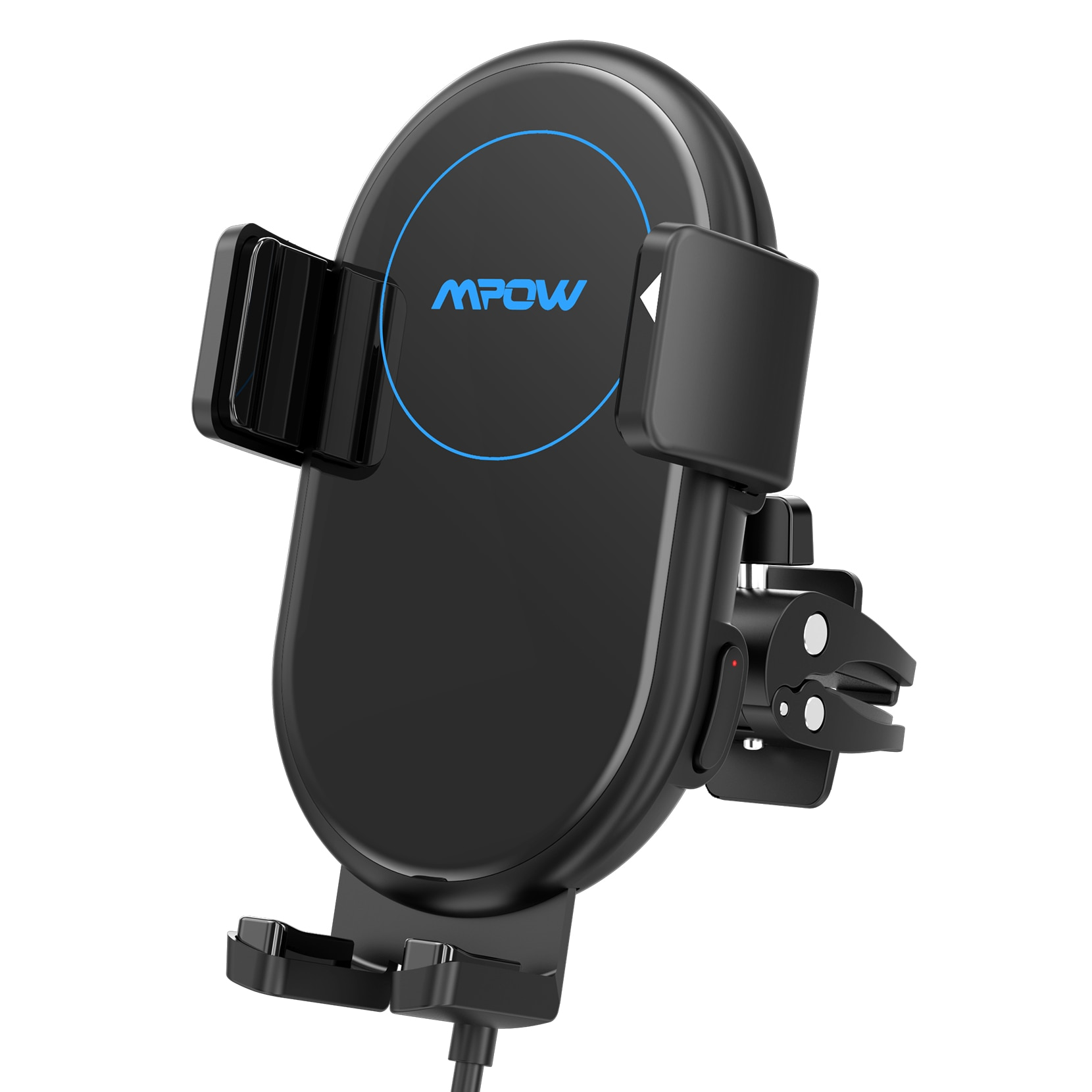 Hfecde1206dd741cd9c78e3dd901bfd25b - Mpow Wireless Car Charger Mount 10W Auto-clamping Qi Fast Charging Car Mount with Power Storage Car Phone Holder for iPhone 12