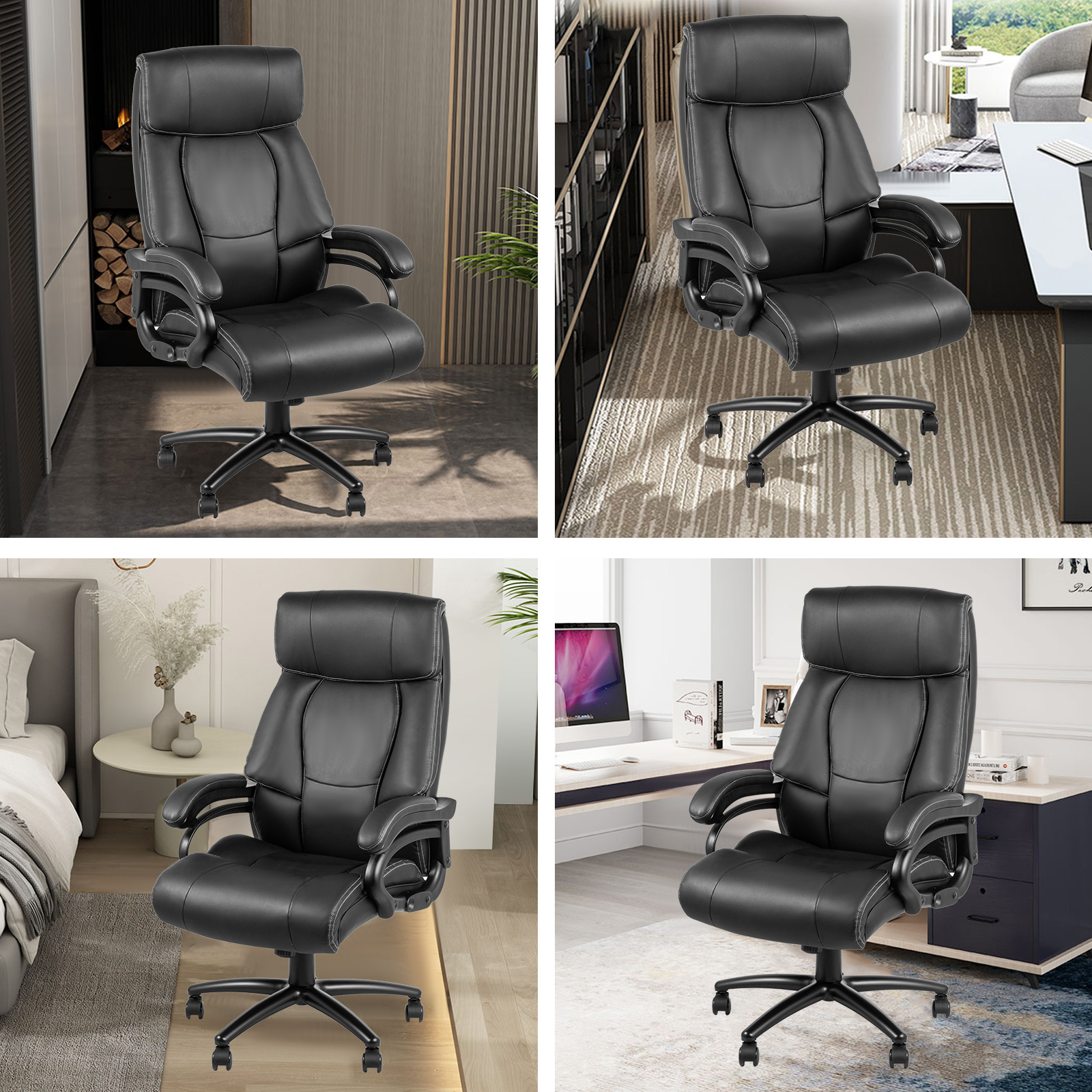 executive chair m103 7 - VEVOR Executive Chair High Back Office Chair Adjustable Swivel Executive Office Chair with Headrest Reclining Computer Chair