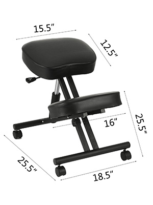 kneeling chair a100 2 - VEVOR Ergonomic Kneeling Chair Adjustable Kneeling Stool Thick Comfortable Cushions for Office Home Balancing Back Body Shaping