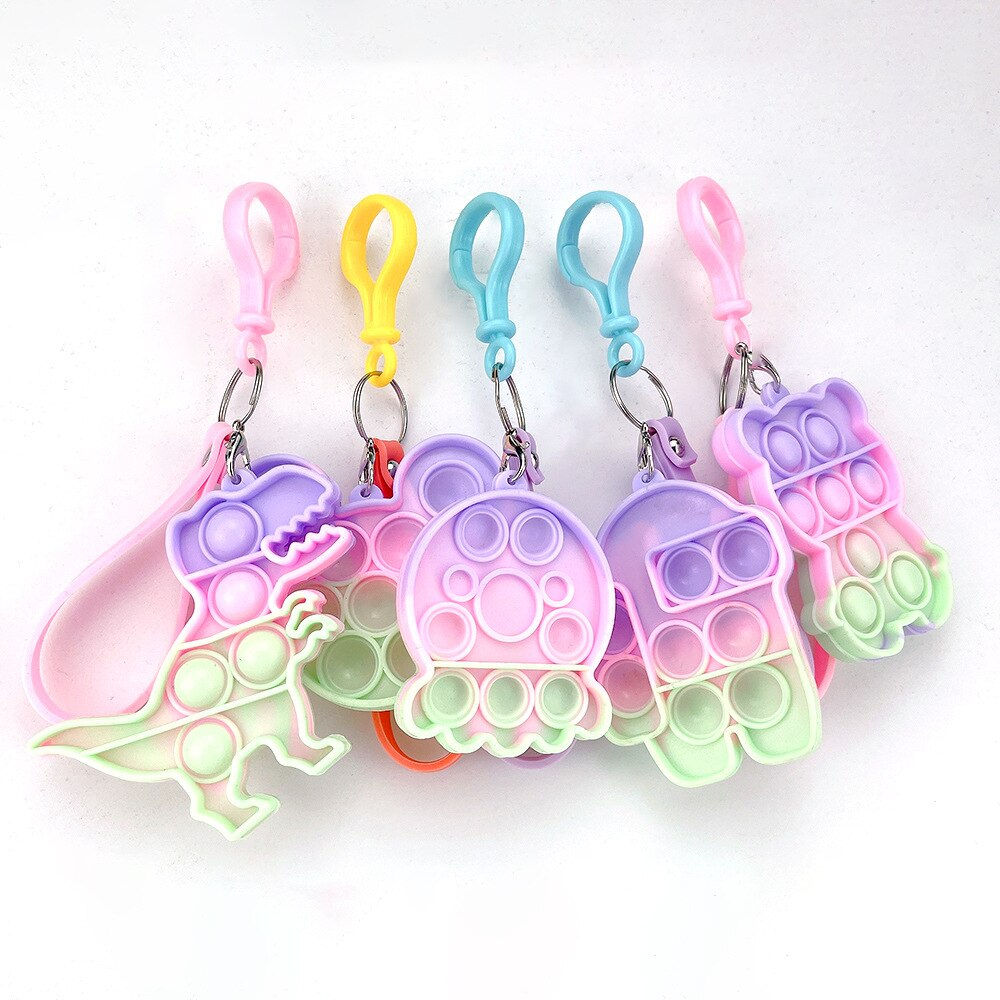 H00aeea057f05450589f6d2b993ffcb81k - Push Bubble Simple Dimple Sensory Toy Keychain For Children Adults Anti Stress Reliever Fidget Toys Kids Decompression Gift