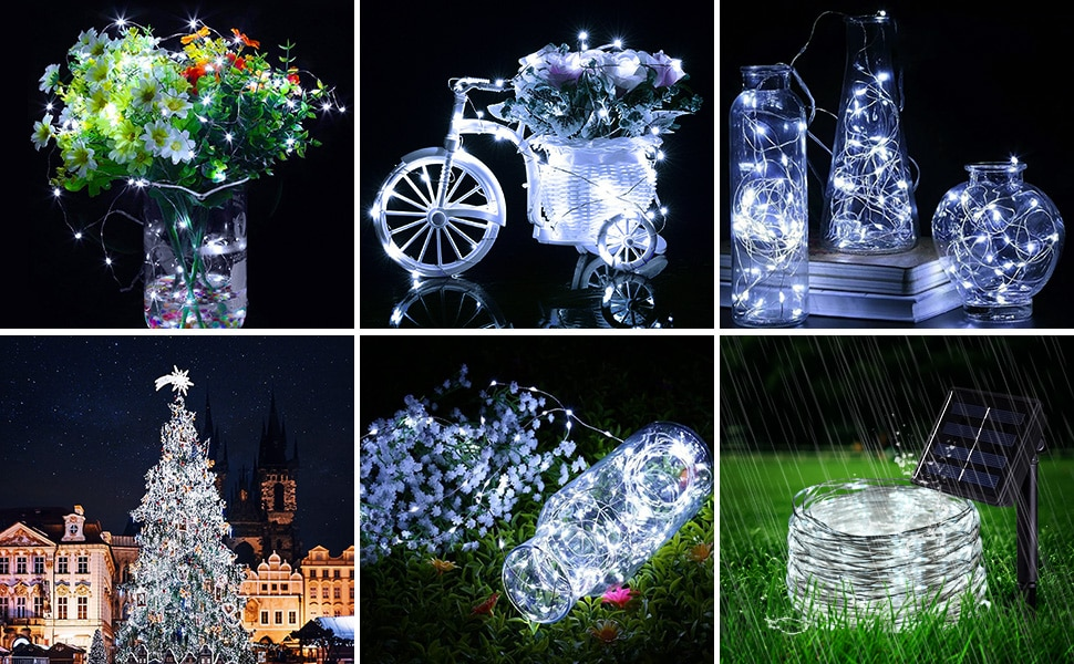 H023555a1102e43bfa3255debd452ea1bs - 50/100/200/330 LED Solar Light Outdoor Lamp String Lights For Holiday Christmas Party Waterproof Fairy Lights Garden Garland