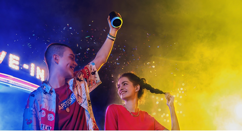 H0382daf1aa194e96a1d6922eb8d2118d4 - Anker Soundcore Flare Mini Bluetooth Speaker, Outdoor Bluetooth Speaker, IPX7 Waterproof for Outdoor Parties