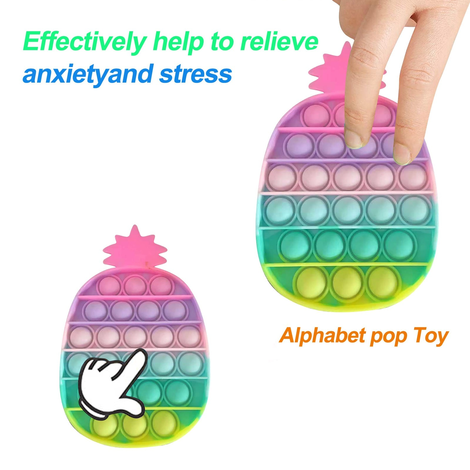 H04299c3d6560474abed861cb49d82b4eA - Push Bubble Pop Fidget Reliver Stress Toy Rainbow Antistress Toys Adults Children Sensory Toys to Relieve Autism Free Shipping