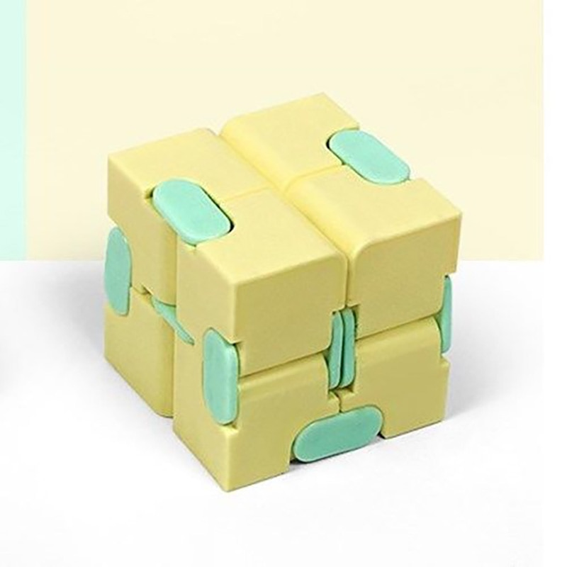 H060b3e68abe9475bb3840cbd94155b4eG - Fingertip Cube Macaron Unlimited Maze Decompression Artifact Stress Relief Rotating Exercise Creative Venting Toy For Baby Adult