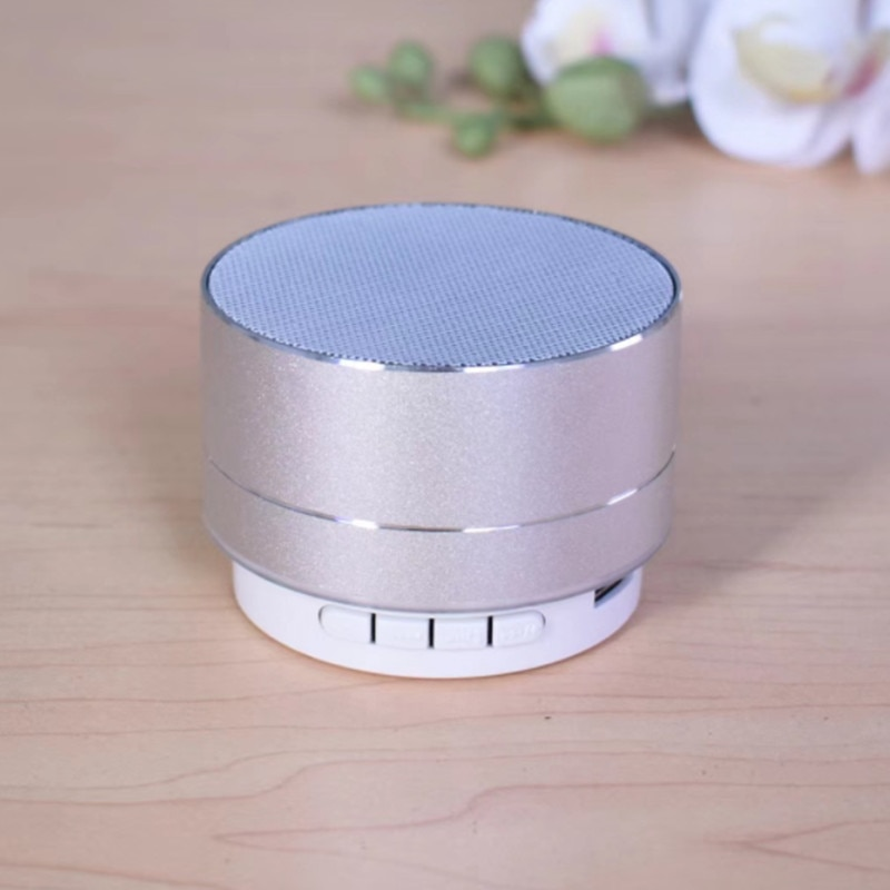 H073ed647c84f444d955189f7f43f5e14b - A10 Wireless Bluetooth Audio Small Steel Cannon Subwoofer Mini Portable Gift Card Bluetooth Speaker