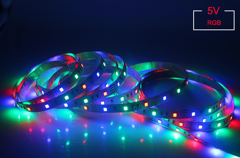 H091dd235362e4e23a8b89e2c84dcc92ah - LED Strip Lights 5050 2385 Flexible RGB Battery Decoration Lighting Remote Controller Ribbon Lamp For TV Mirror Cabinet Bedroom