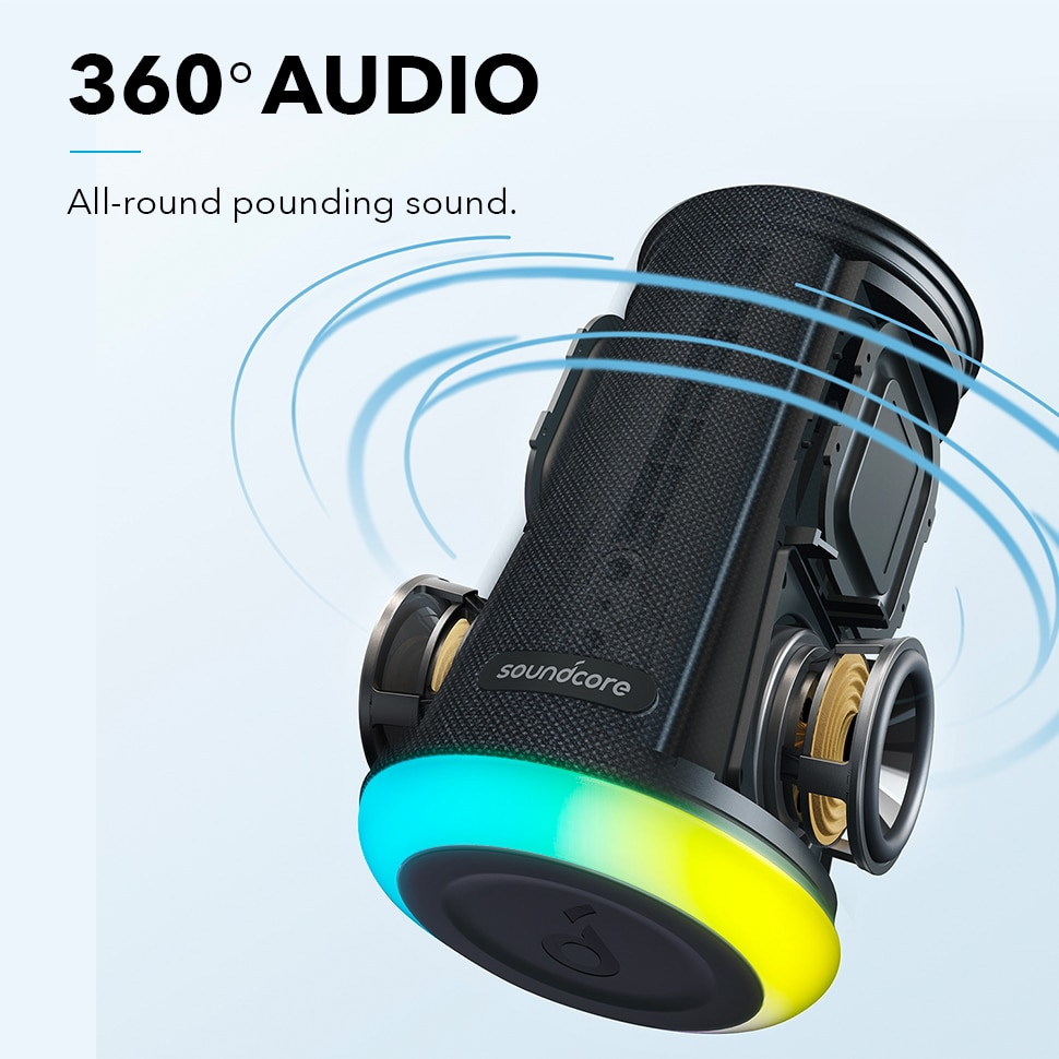 H0e111f93883f4e7f89ab6699e164cdd91 - Anker Soundcore Flare Mini Bluetooth Speaker, Outdoor Bluetooth Speaker, IPX7 Waterproof for Outdoor Parties