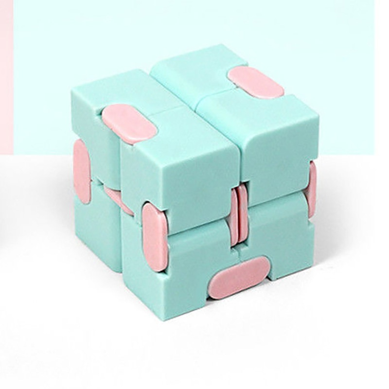 H101d531c3dff436597421ed88b6da468W - Fingertip Cube Macaron Unlimited Maze Decompression Artifact Stress Relief Rotating Exercise Creative Venting Toy For Baby Adult
