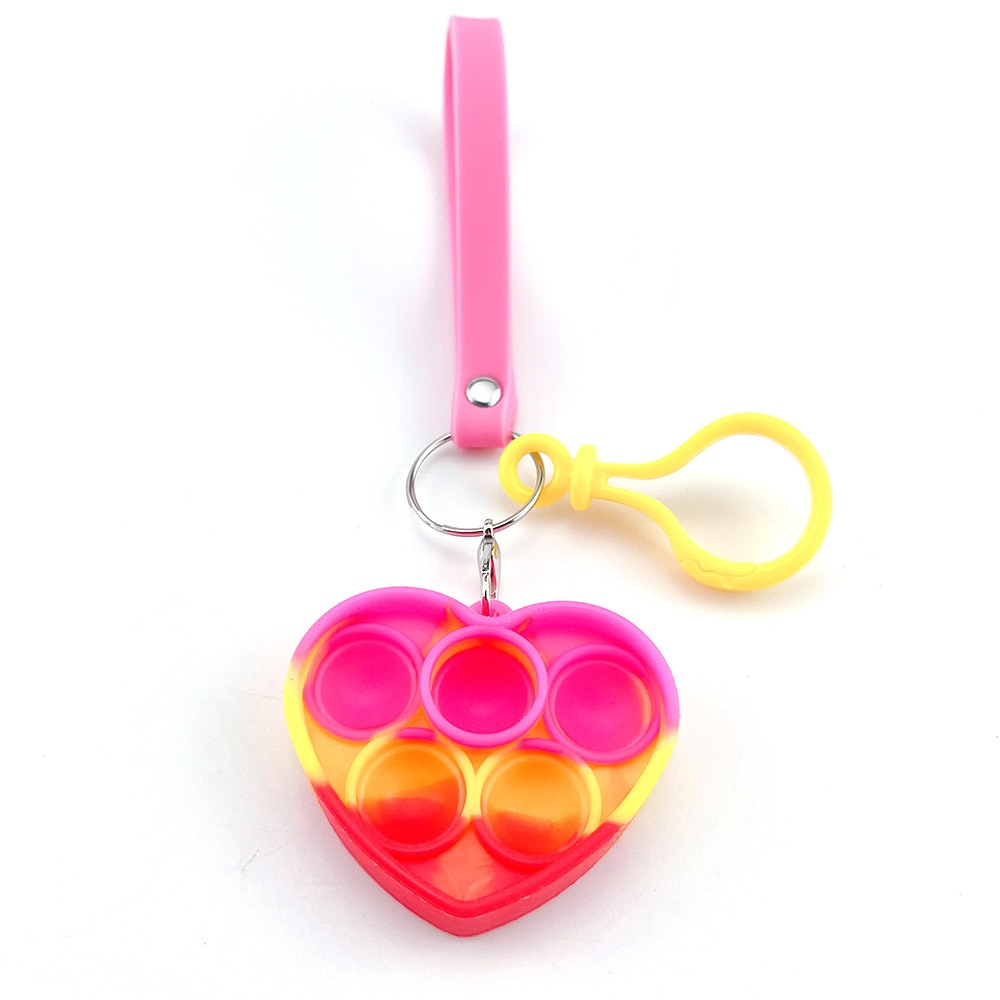 H12098254e9774d43b13e2b9d00699fd2j - Push Bubble Simple Dimple Sensory Toy Keychain For Children Adults Anti Stress Reliever Fidget Toys Kids Decompression Gift