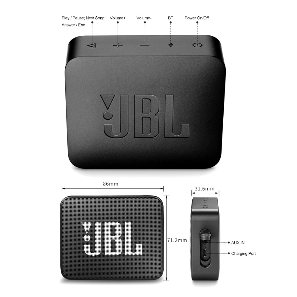 H13e64f314e0841dfb1b3ea6d03182e72e - Original JBL GO 2 Wireless Bluetooth Speaker Mini IPX7 Waterproof Outdoor Sound Rechargeable Battery With Microphone