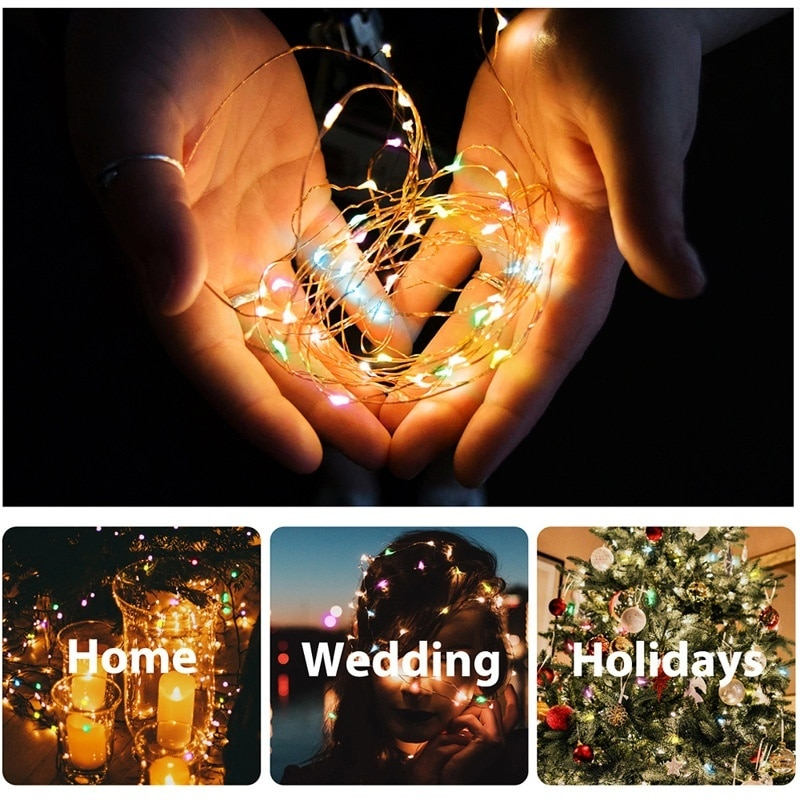 H14fd26e044ab4dc78b5467383caa49edR - 50/100/200/330 LED Solar Light Outdoor Lamp String Lights For Holiday Christmas Party Waterproof Fairy Lights Garden Garland