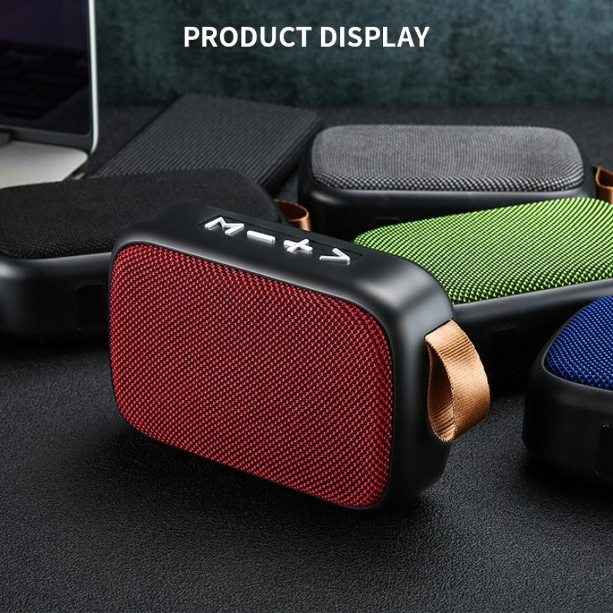 H15f602da42c4448aa62c3cdf9ee33b0bw - G2 New Wireless Fabric Bluetooth Speaker Small Portable Cannon Mini Voice Broadcast The Card Instert Vehicular Audio System