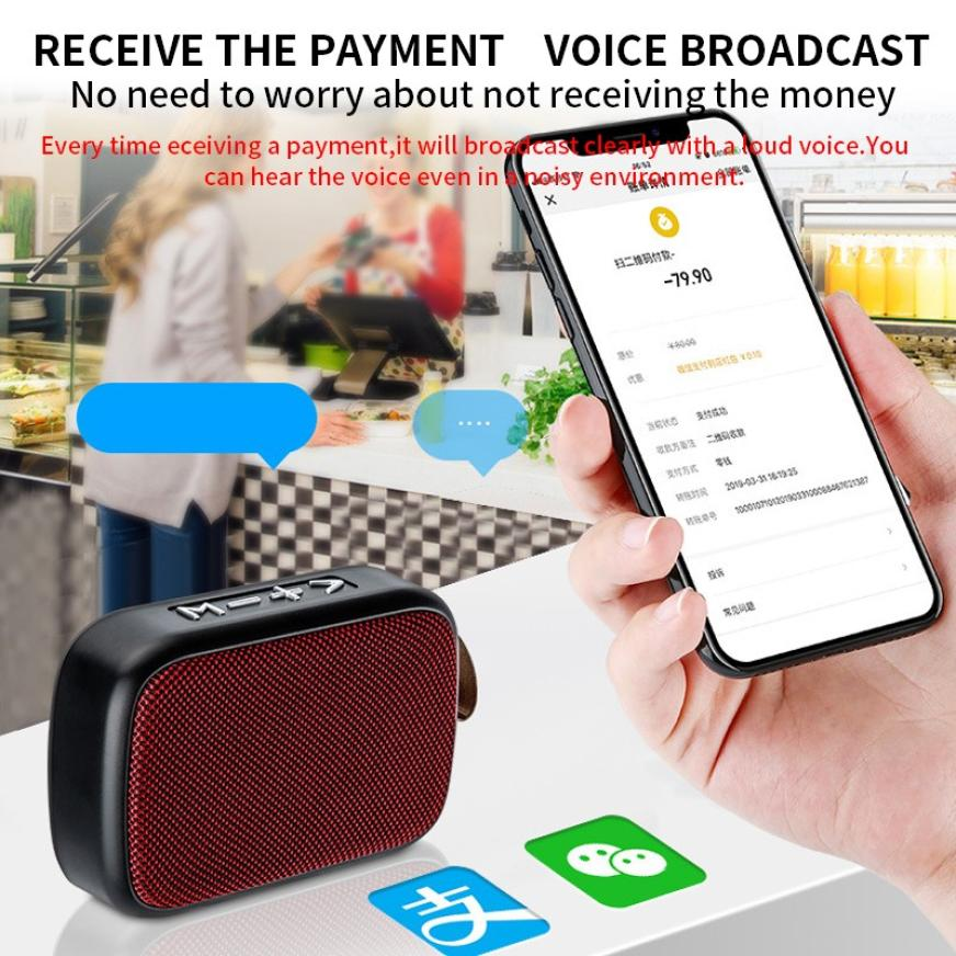 H214469e95eed4059ba74bae90a053204X - G2 New Wireless Fabric Bluetooth Speaker Small Portable Cannon Mini Voice Broadcast The Card Instert Vehicular Audio System