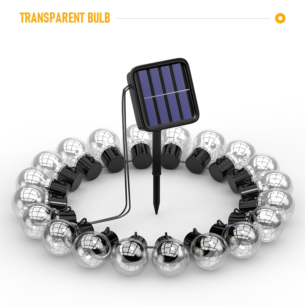 H242942d40e1c4819b05d5f15a3b1f08fv - Outdoor Garland Street LED G50 Bulb Solar Energy String Light As Christmas Decoration Lamp For Home Indoor Holiday Lighting