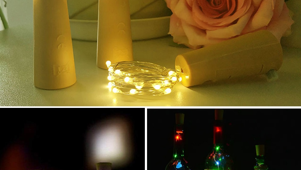 H24f4970194fa44389c192b2d8a697e4fh - 1M 2M Wine Bottle Lights With Cork LED String Light Copper Wire Fairy Garland Lights Christmas Holiday Party Wedding Decoration