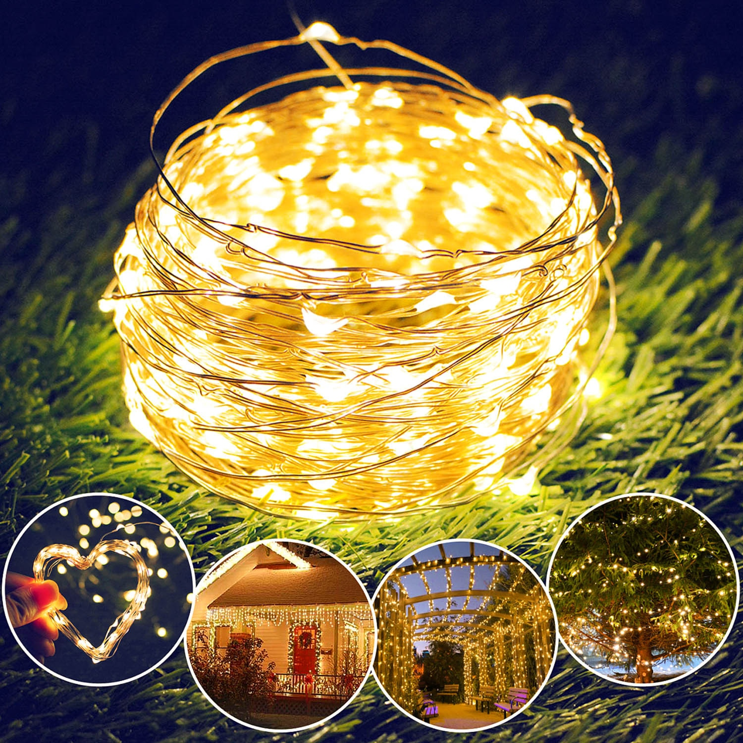 H25cbddc67c62484587b70f32de746edce - Led Fairy Lights Copper Wire String 1/2/5/10M Holiday Outdoor Lamp Garland Luces For Christmas Tree Wedding Party Decoration