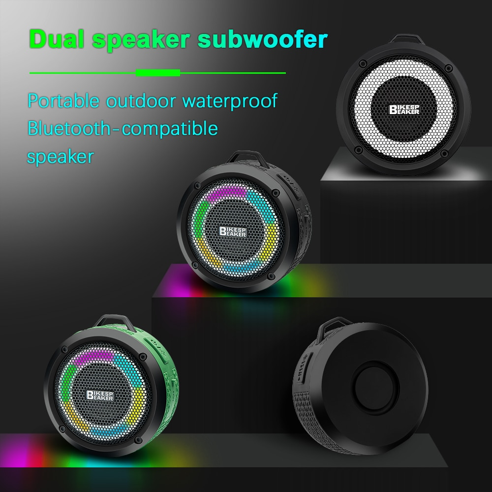 H28481b1ea6b34879936836a9018f4160K - Camason wireless Bluetooth speaker subwoofer outdoor portable Waterproof boombox stereo Sound box quality with mic